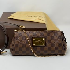 Louis Vuitton Eva Damier Ebene Brown Crossbody